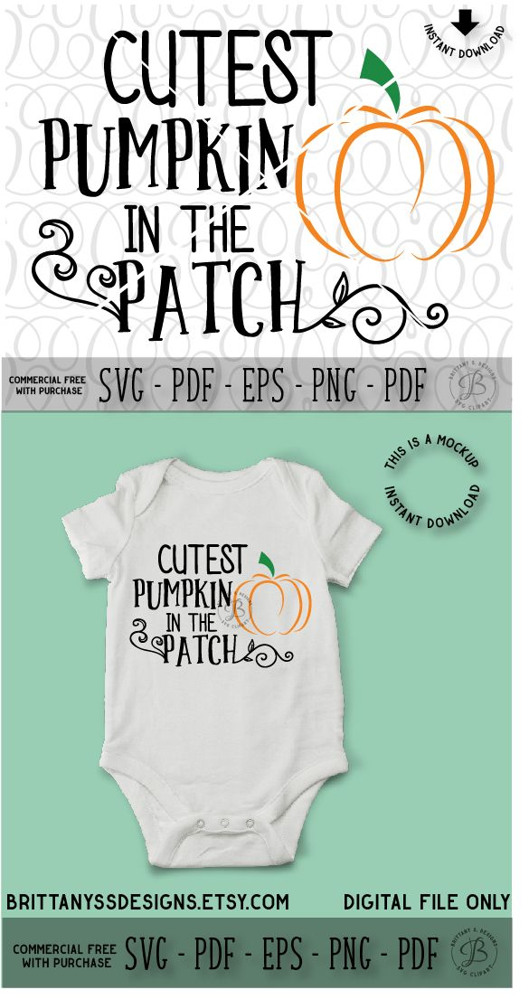 DIY Photo Prop Baby/'s First Halloween Baby DIGITAL Iron On Transfer or Sticker Printable Fall Outfit Cutest Pumpkin in the Patch