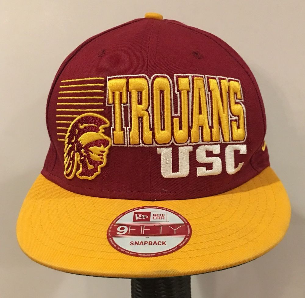 8e1369fd249 USC Trojans University Of Southern California Hat Cap SnapBack New Era 9  Fifty