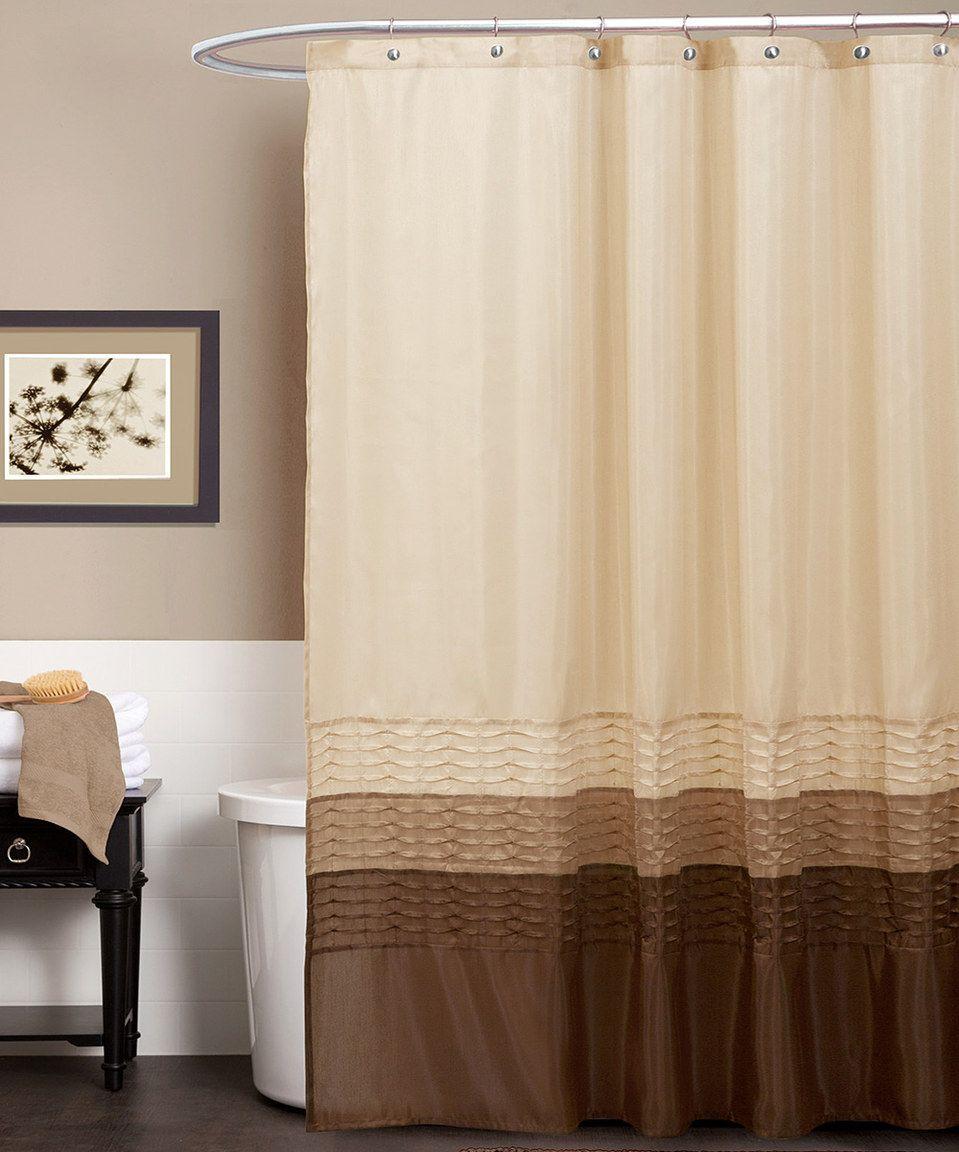 Look at this zulilyfind wheat u chocolate tess shower curtain by