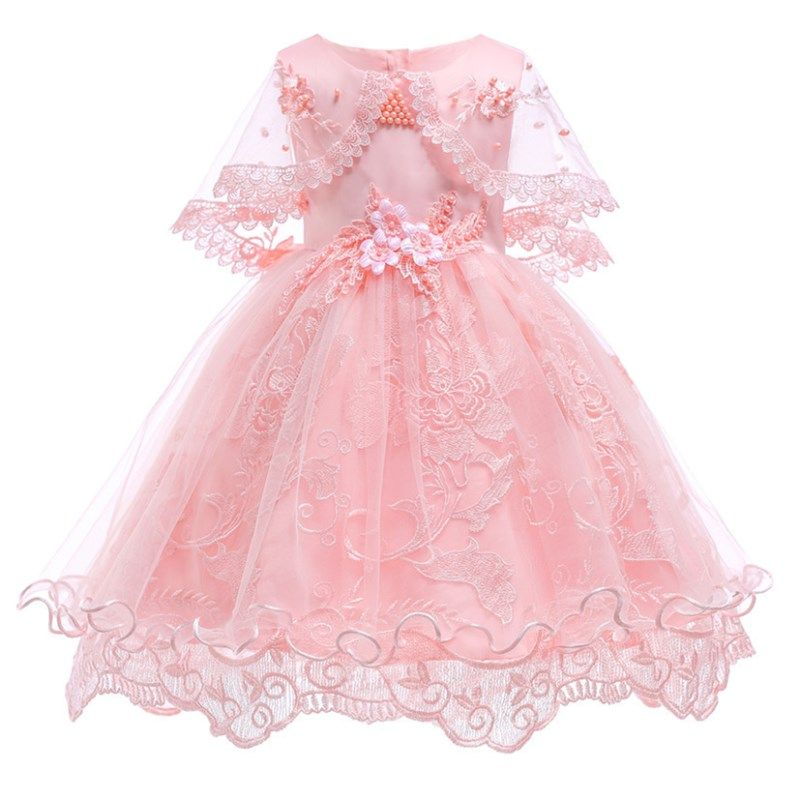 d0a563a43 Girls Dresses Princess Birthday Party Girls Clothes Pearl Flower ...