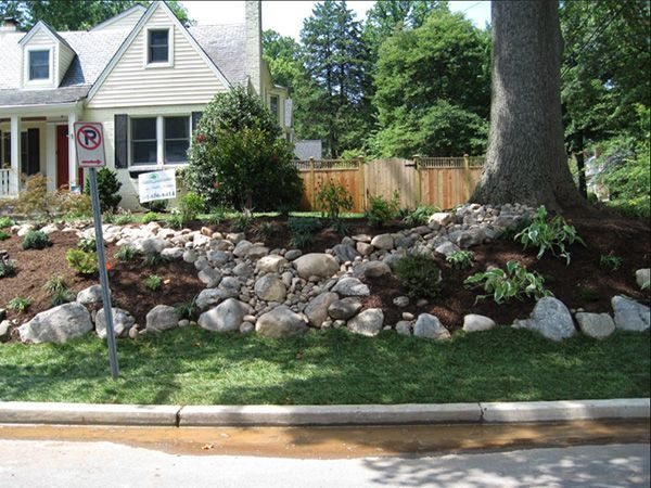 Landscaping Front Ideas Using Large Rocks