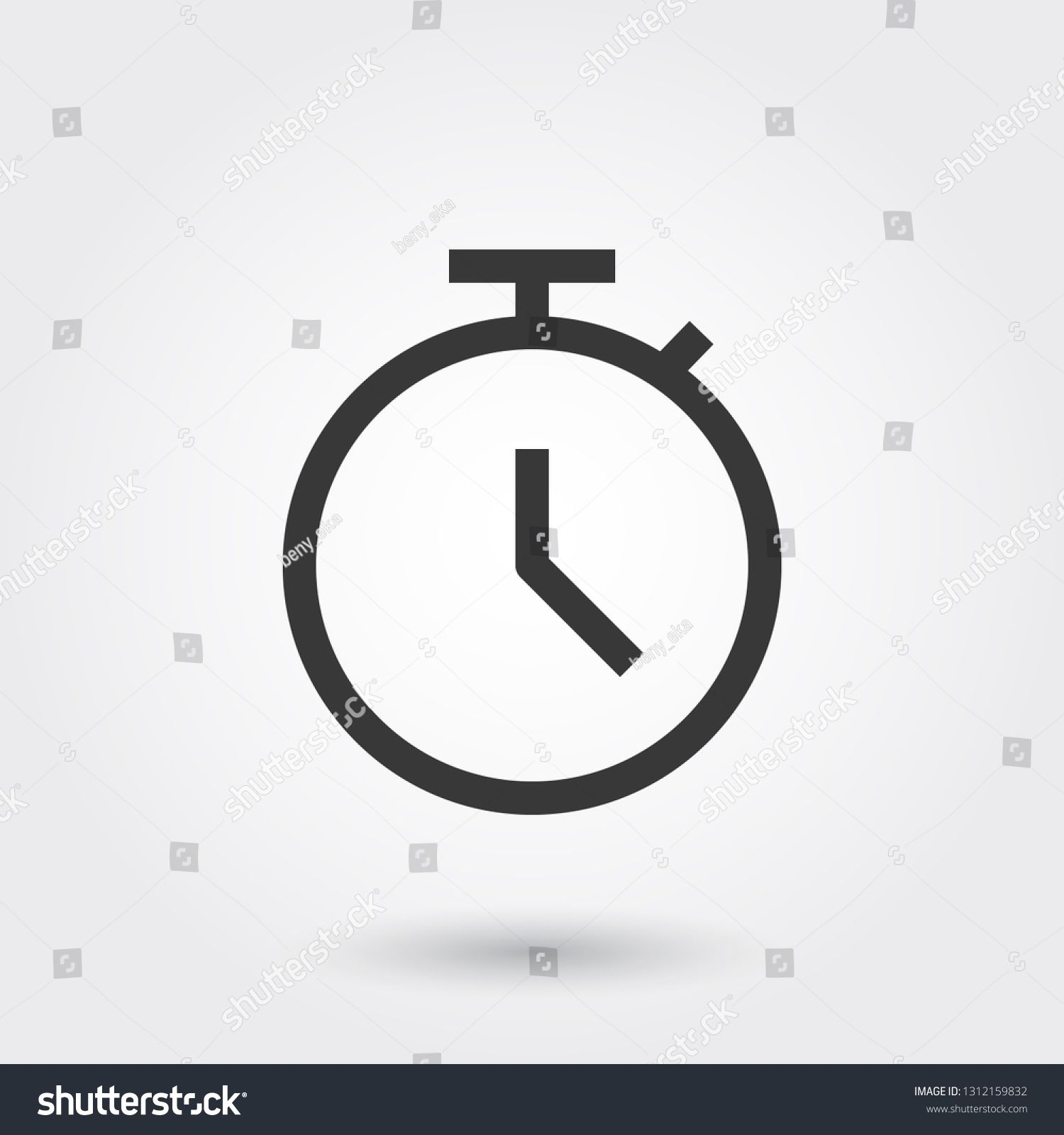Vector, Deadline, Time, Clock, Watch, Line Icon with shadow #Ad , #AFFILIATE, #Time#Clock#Vector#Deadline