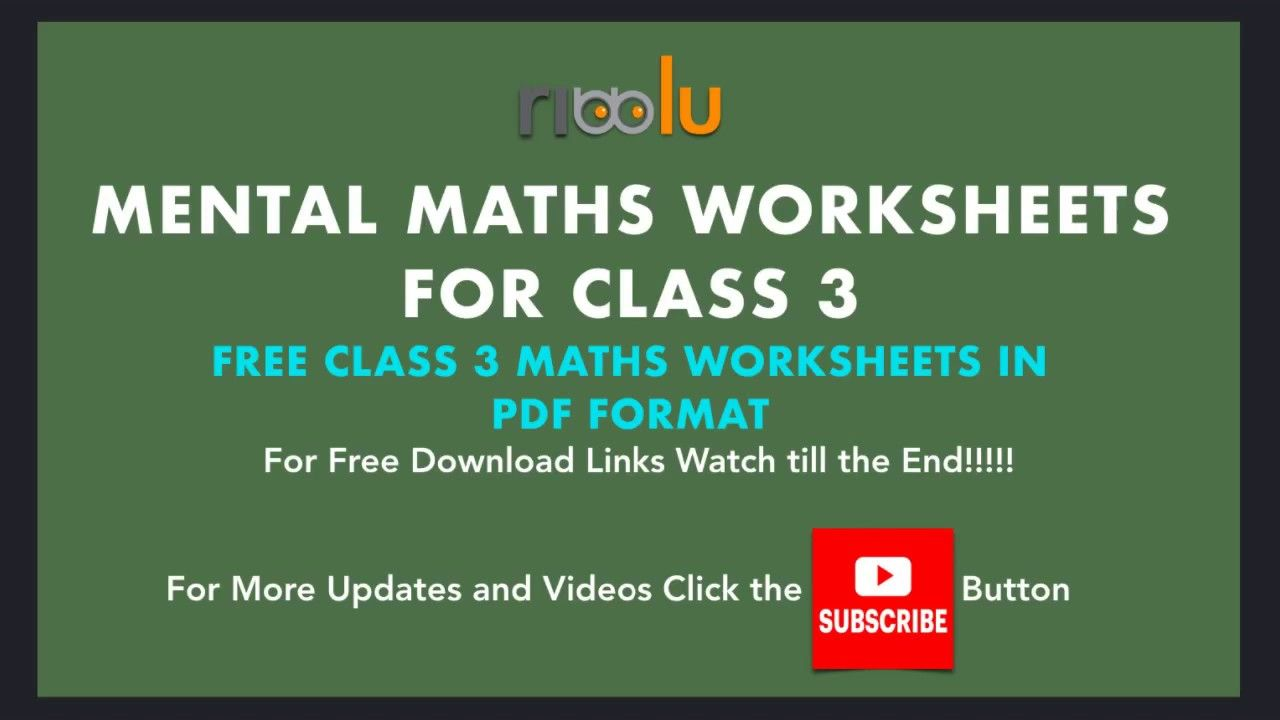Mental Maths Class 3 Worksheets Mathematics For Grade 3 Kids Mental Math Mental Maths Worksheets Mathematics For Grade 3 [ 720 x 1280 Pixel ]