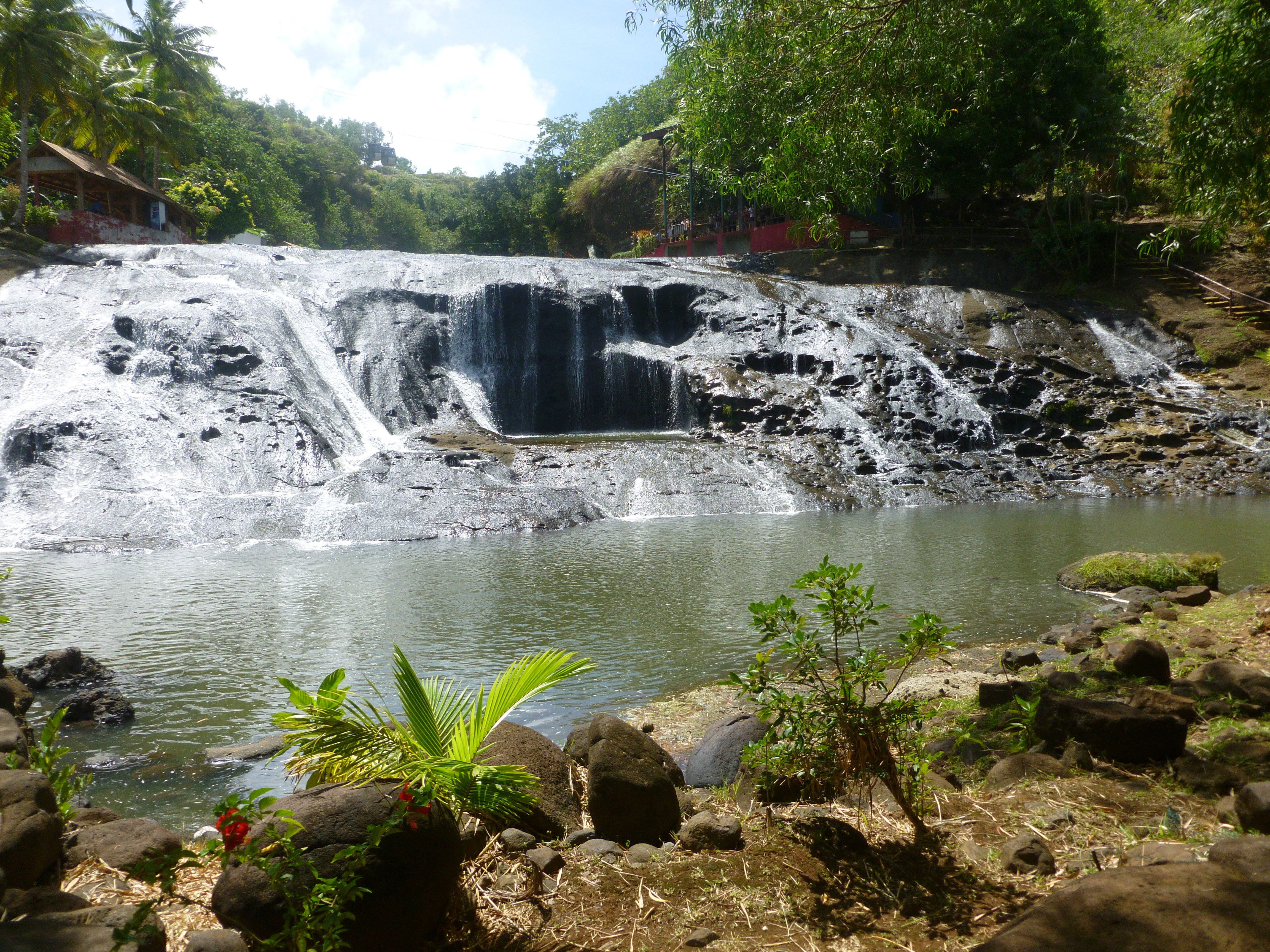 Talofofo falls, Guam.  They actually let you jump in.