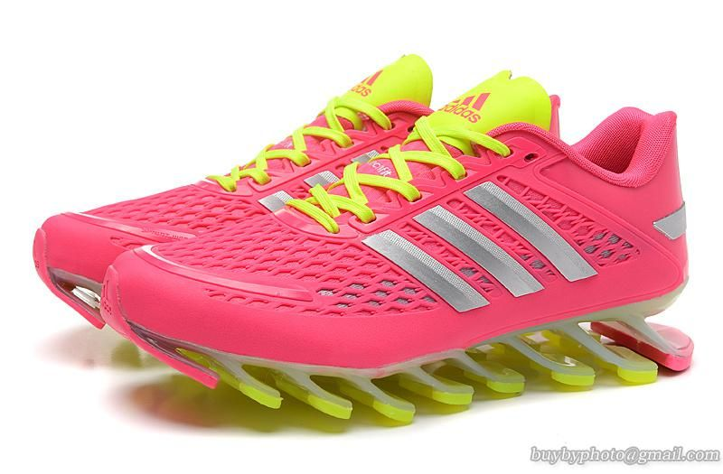 brand new c2a42 53f89 ... new zealand womens adidas springblade razor running shoes pink  fluorescence green 627bb 5ad96 ...