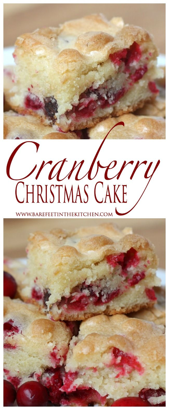 cranberry christmas cake is the ultimate holiday dessert get the recipe at barefeetinthekitchencom