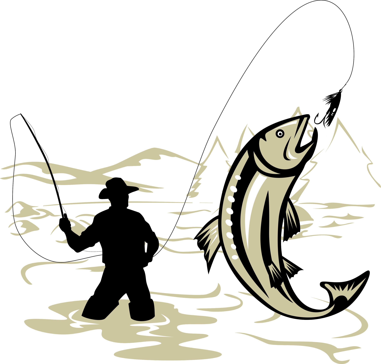 Pin De Barbara Jones En Svg Sports Pescador Dibujo Logotipo De Peces Pescador