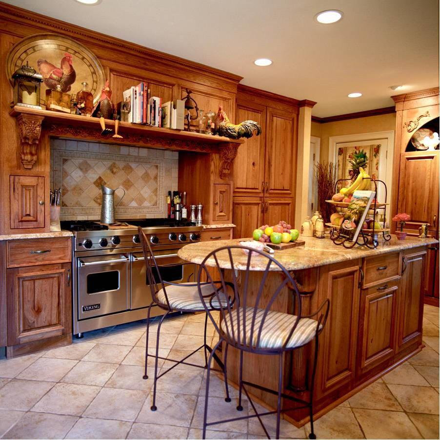 Land Stil Küche Design die Küche wird von einem durch Tasten, durch ...