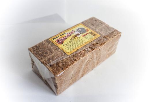 Paçoca caseira giardini, tijolo, pelo líquido 2,1 kg - R$15,00 no DoceShop