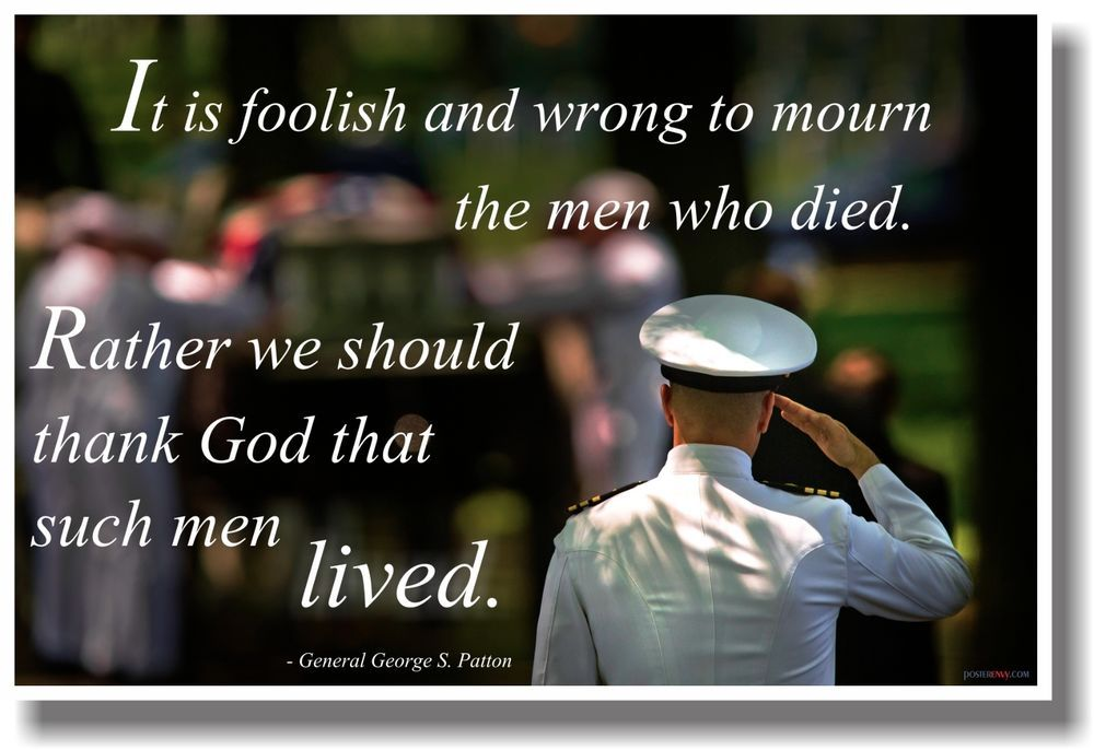 Details about it is foolish and wrong to mourn the men who