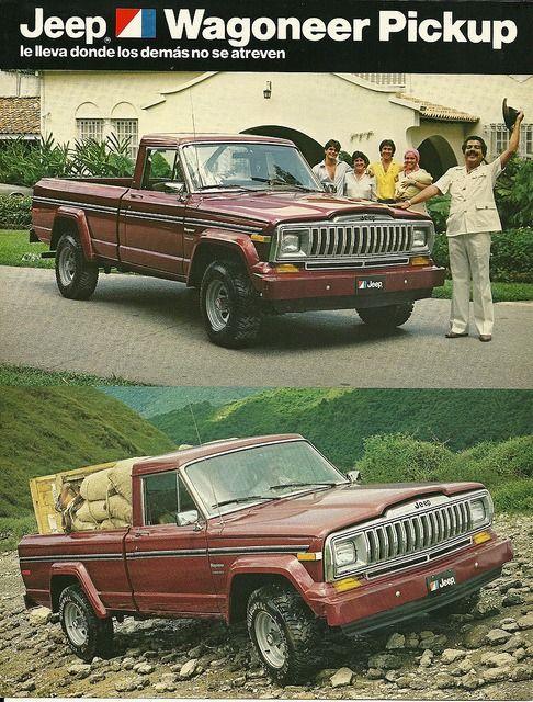 Jeep Wagoneer Pickup Jeep Wagoneer Vintage Jeep Jeep Pickup