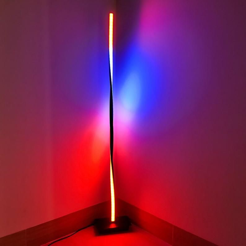 Nordic Led Corner Floor Lamp Color Changing Minimalist Led Etsy In 2020 Led Floor Lamp Floor Lamps Living Room Lamps Living Room