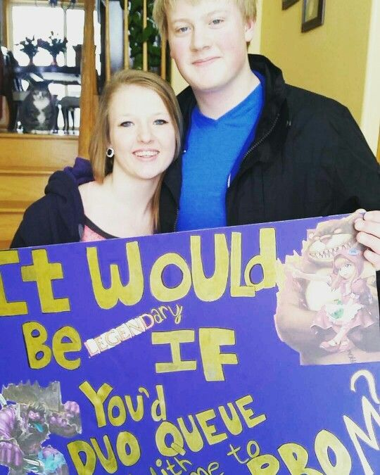 It would be legendary if you'd duo queue with me to prom?     2k16 Promposal