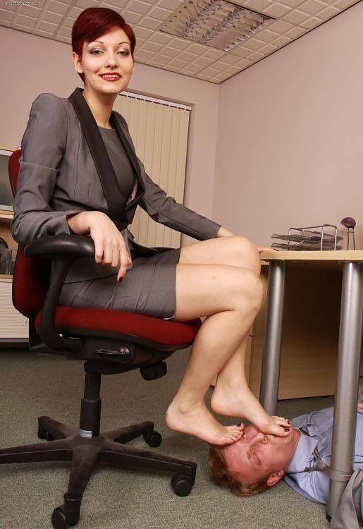 female foot slave