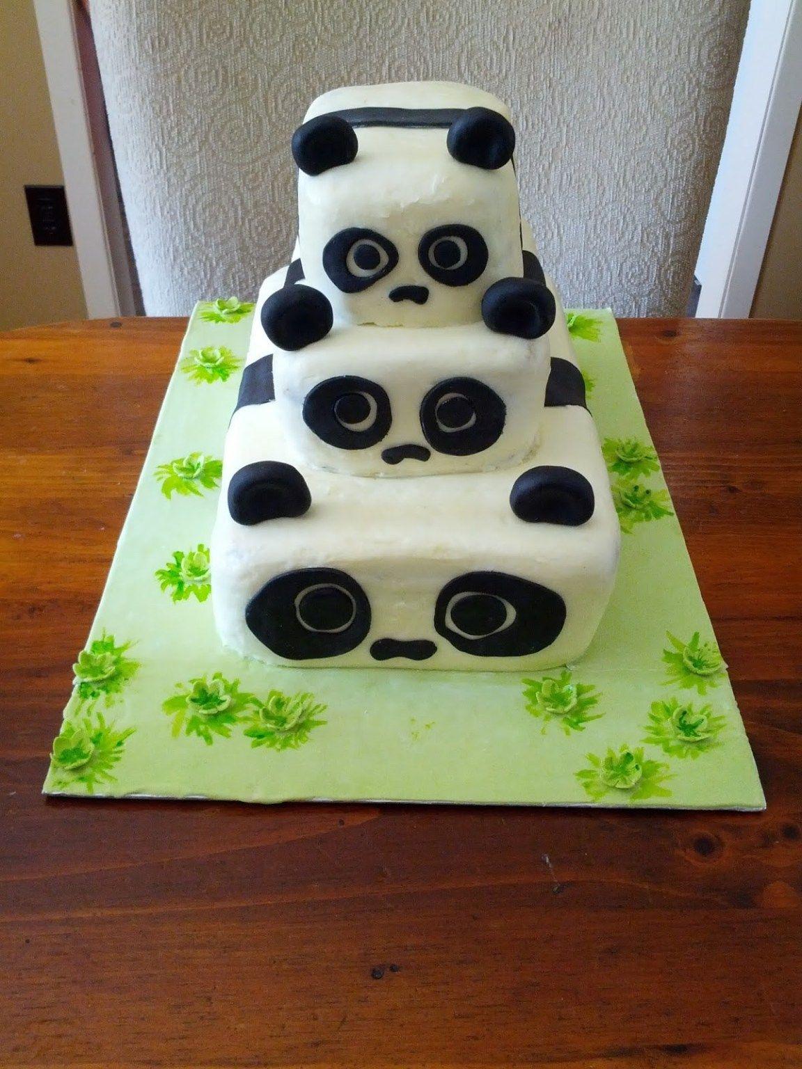 panda birthday cake images