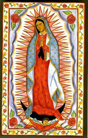 Grace María Garcia Dobson --- N. S. de Guadalupe painting on wood