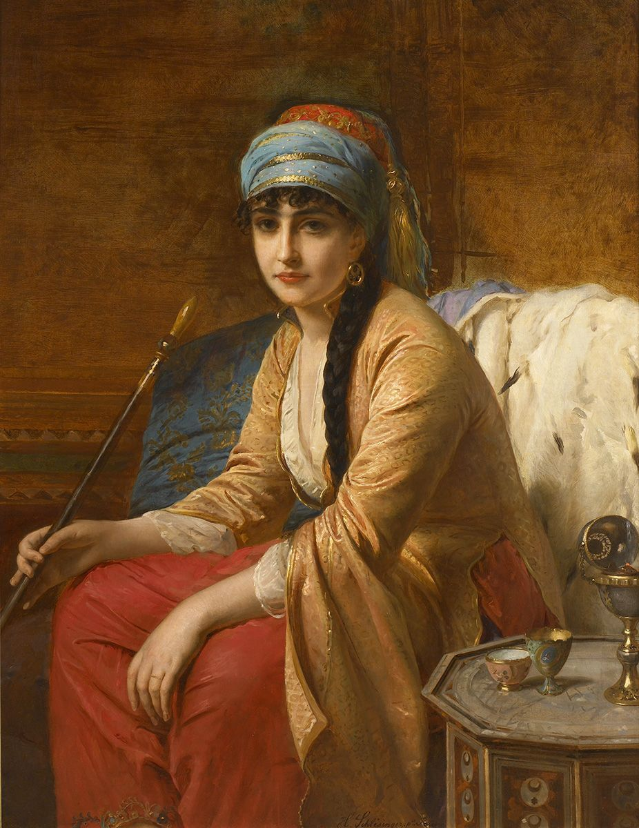 Henri Guillaume Schlesinger Femme Turque Au Chibouk