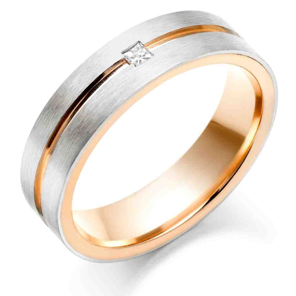 rose gold engagement rings for men - Mens Gold Wedding Rings