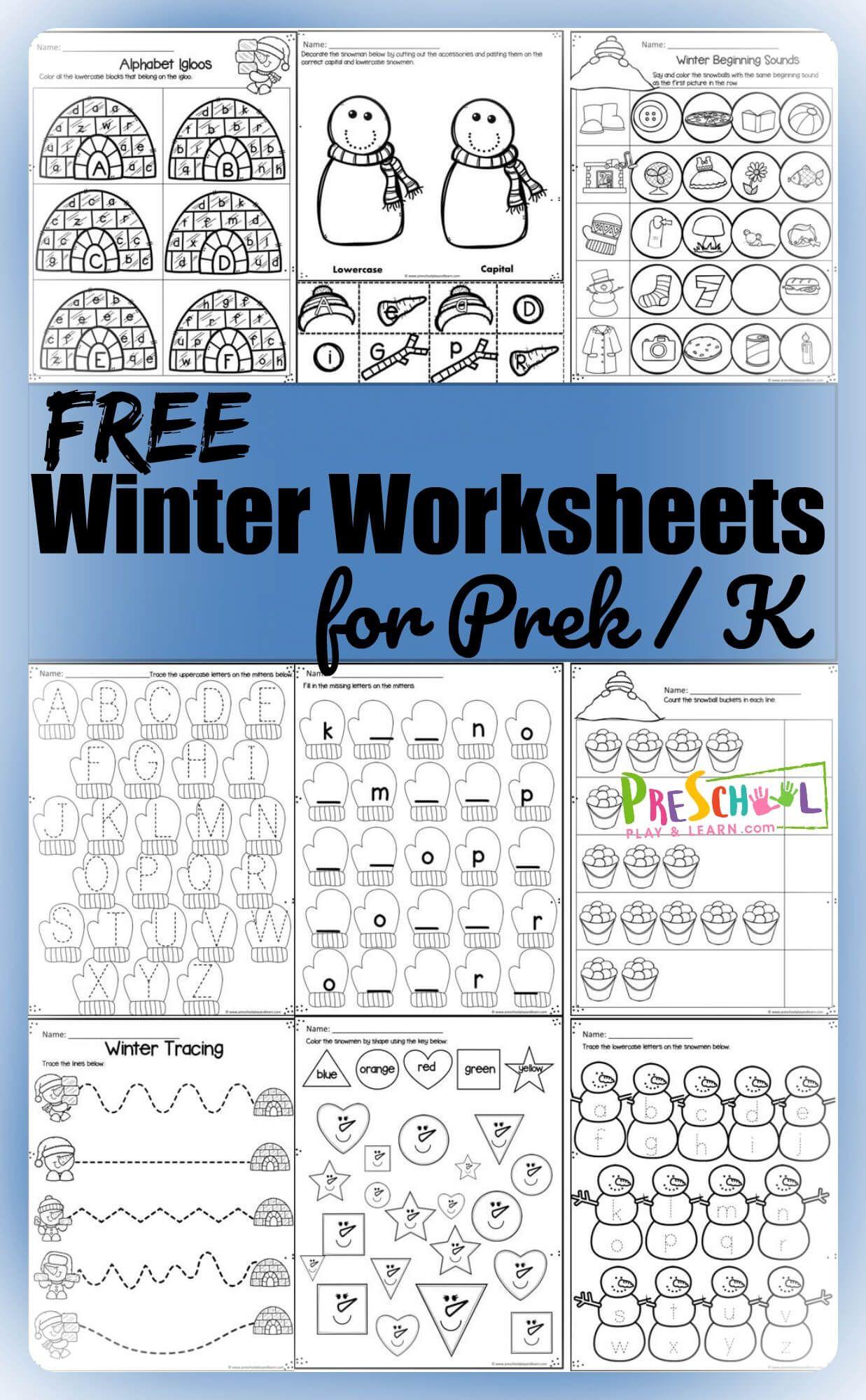 Free Winter Worksheets
