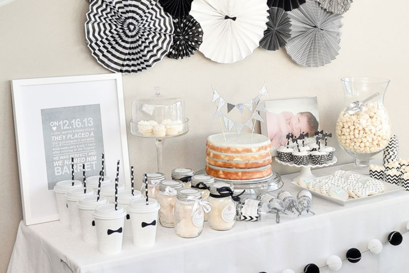 37 Cool First Birthday Party Ideas For Boys First Birthday Parties Diy Party Crafts White Party Theme