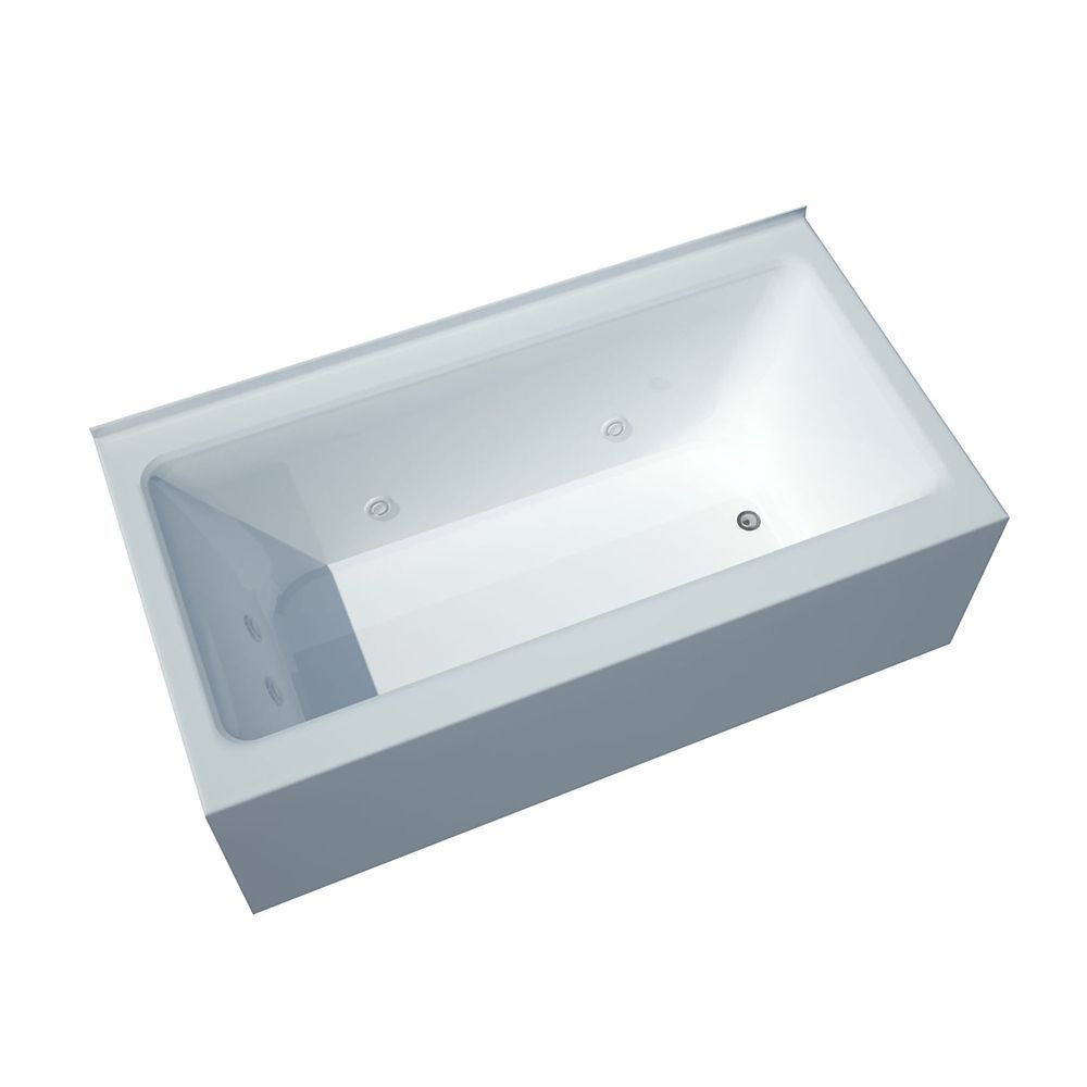 Amber 5 Feet Front Skirted Whirlpool Bathtub with Left Drain ...