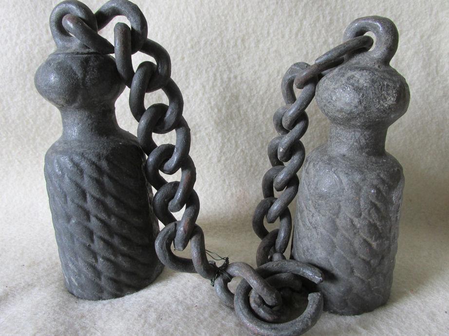 Antique Vintage Gate Weight Chain With Tassel
