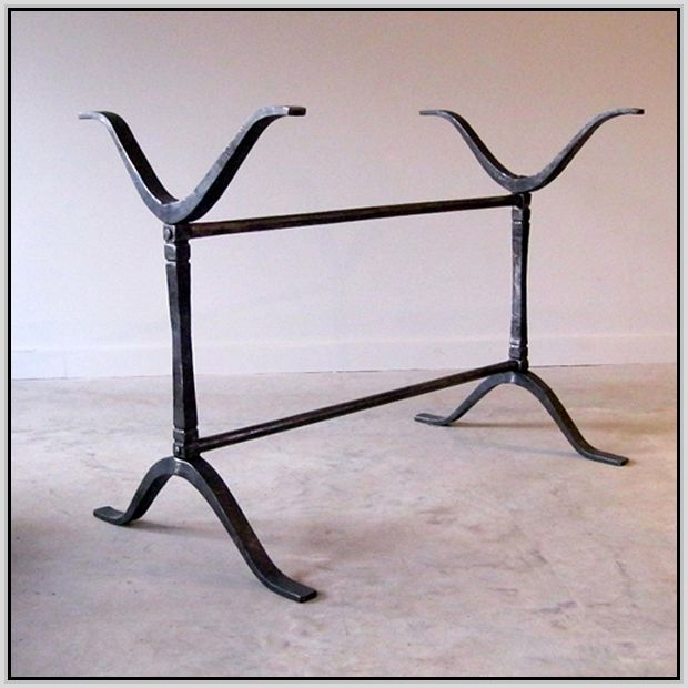 Wrought Iron Table Legs. Have one set right now with a ...