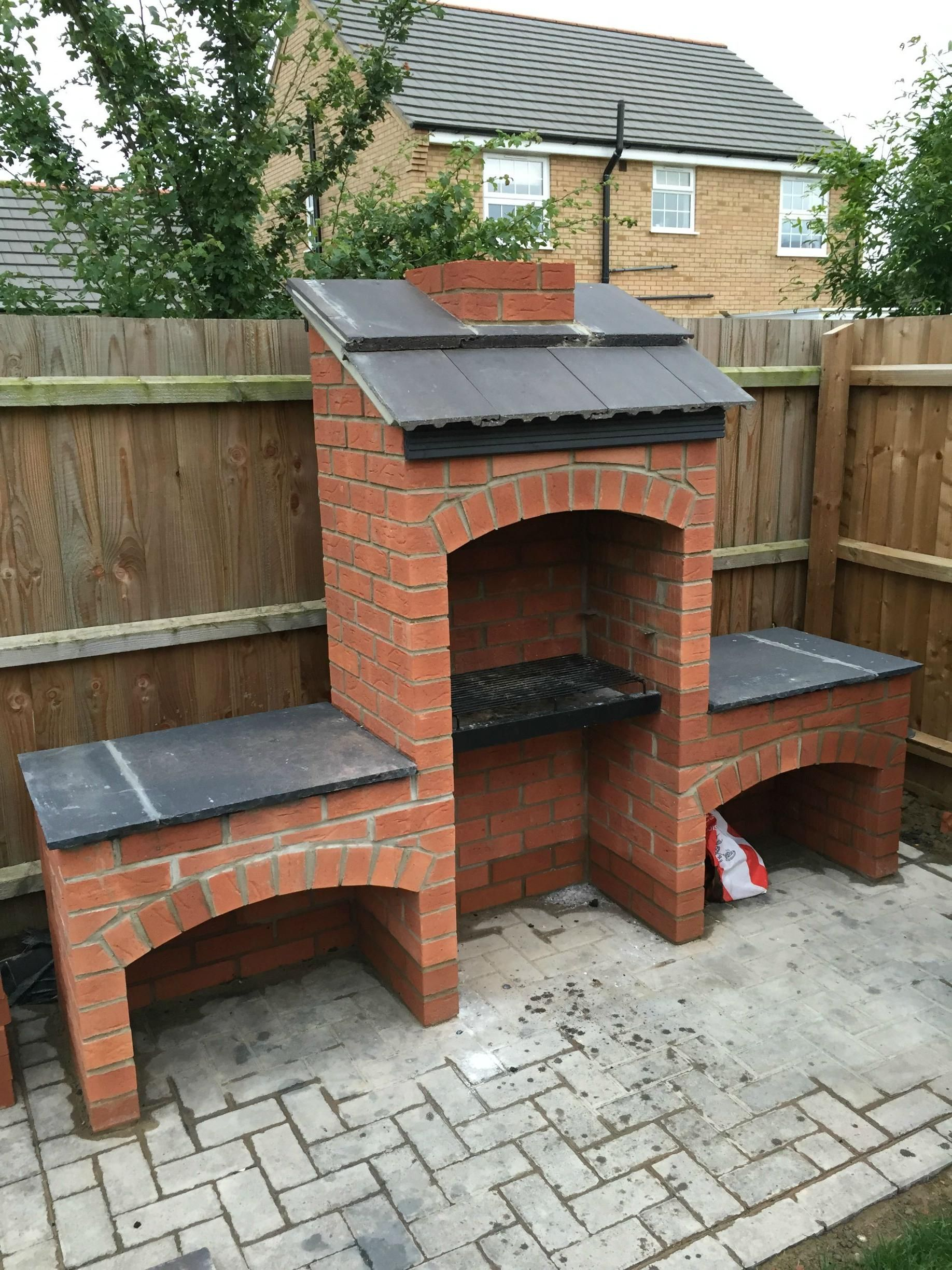 My Brother Built Me This Awesome Masonry Bbq In My Back Garden