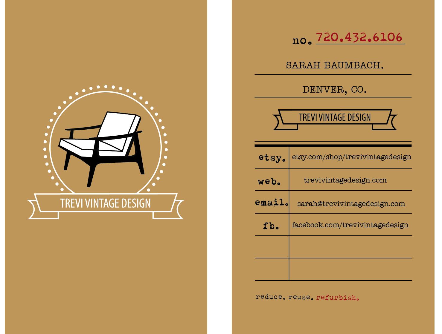 Home Trevi Vintage Design Vintage Business Cards Business Card Design Vintage Designs