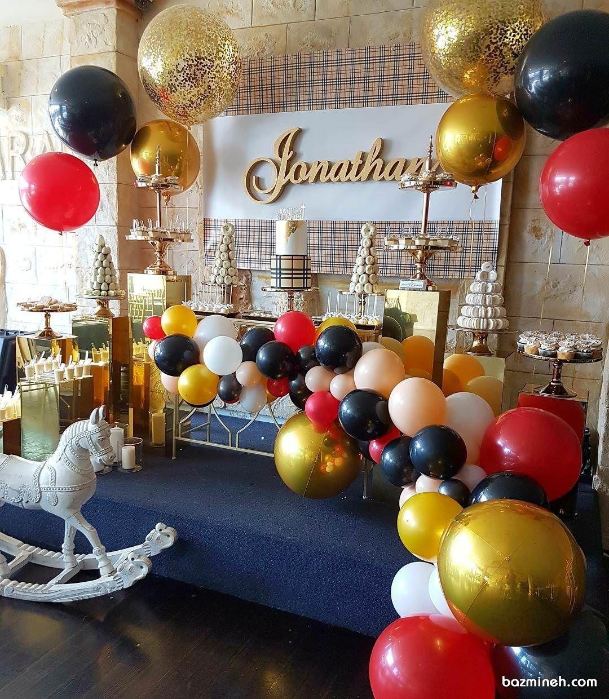 دکوراسیون جشن و بادکنک آرایی تولد با تم برند بربری Fun Colors Color Palette Balloon Decorations
