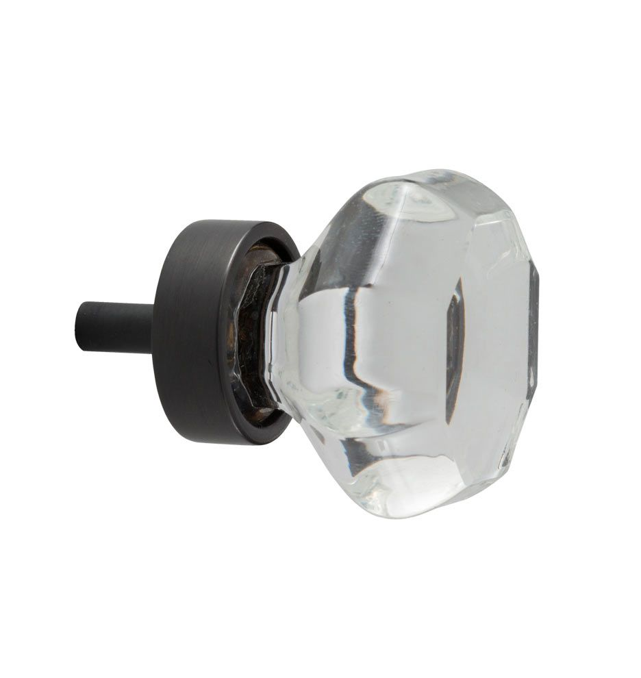 Glass cabinet door hinges  Octagon Glass Cabinet Knob  Bronze kitchen Oil rubbed bronze and Glass