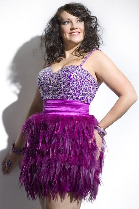 Plus Size Purple Feather Dress Hey Look Its Plus Sized Barbie