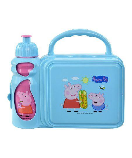 Upd Peppa Pig Light Blue Lunch Box Amp Pink Water Bottle