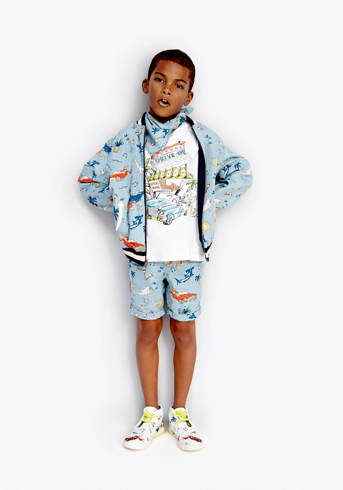 bd5d42f68 Discover the Stella McCartney Kids Spring Summer 18 collection, focused on  fun, modern and playful styles for babies, boys and girls from newborn to  14 ...