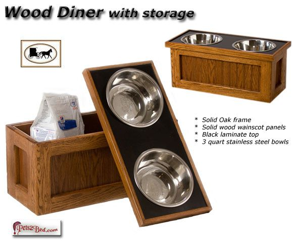 Wood Dog Food Holder With Storage 3 Bowl | ... Before Your New,