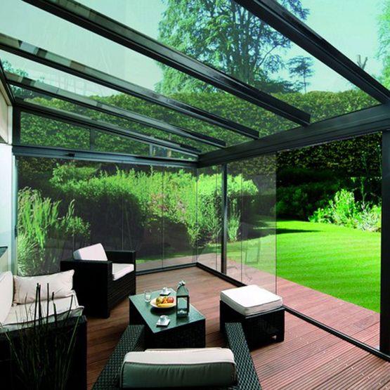 Pergola en Verre en 2020 | Toit en verre, Terrasse vitrée et Terrasse fermée