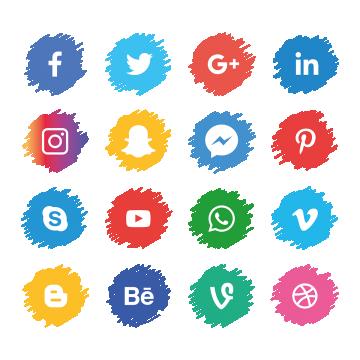 Social Media Icons Set Facebook Instagram Whatsapp Png And Vector Social Media Icons Social Media Icons Free Social Media Logos