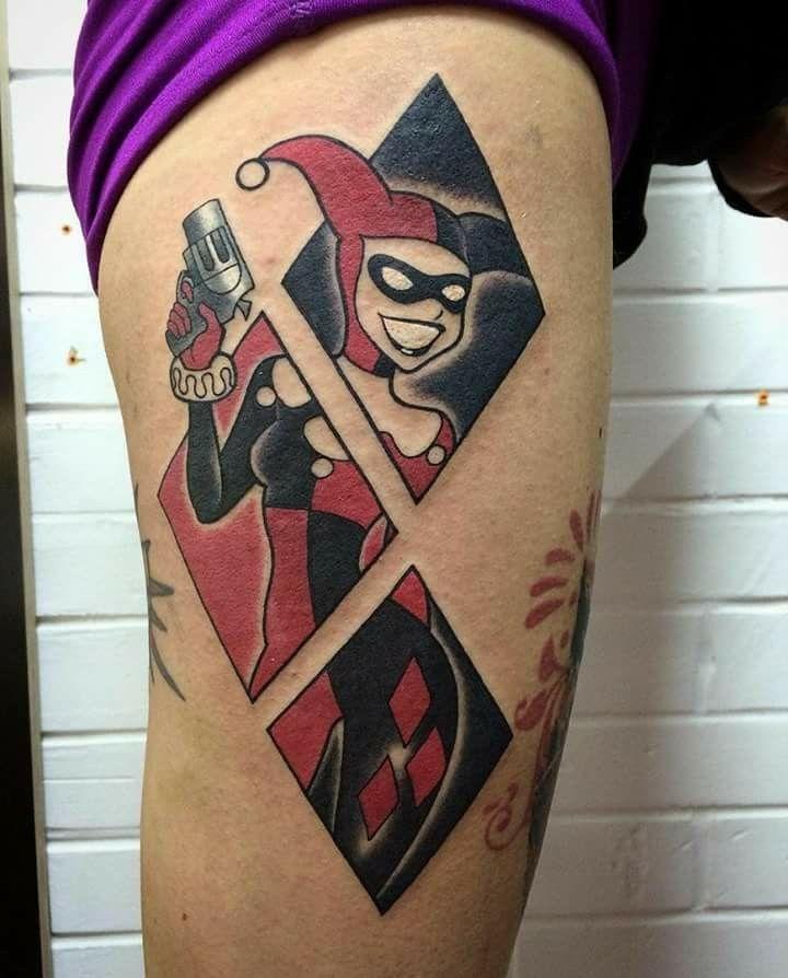 Pin De Jenny Quinn Krueger Em Tattoo Ideas Tatuagem Arlequina Tatuagem Alerquina Tattoo