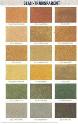 behr semi transparent concrete stains - Behr Semi Transparent Stain Colors