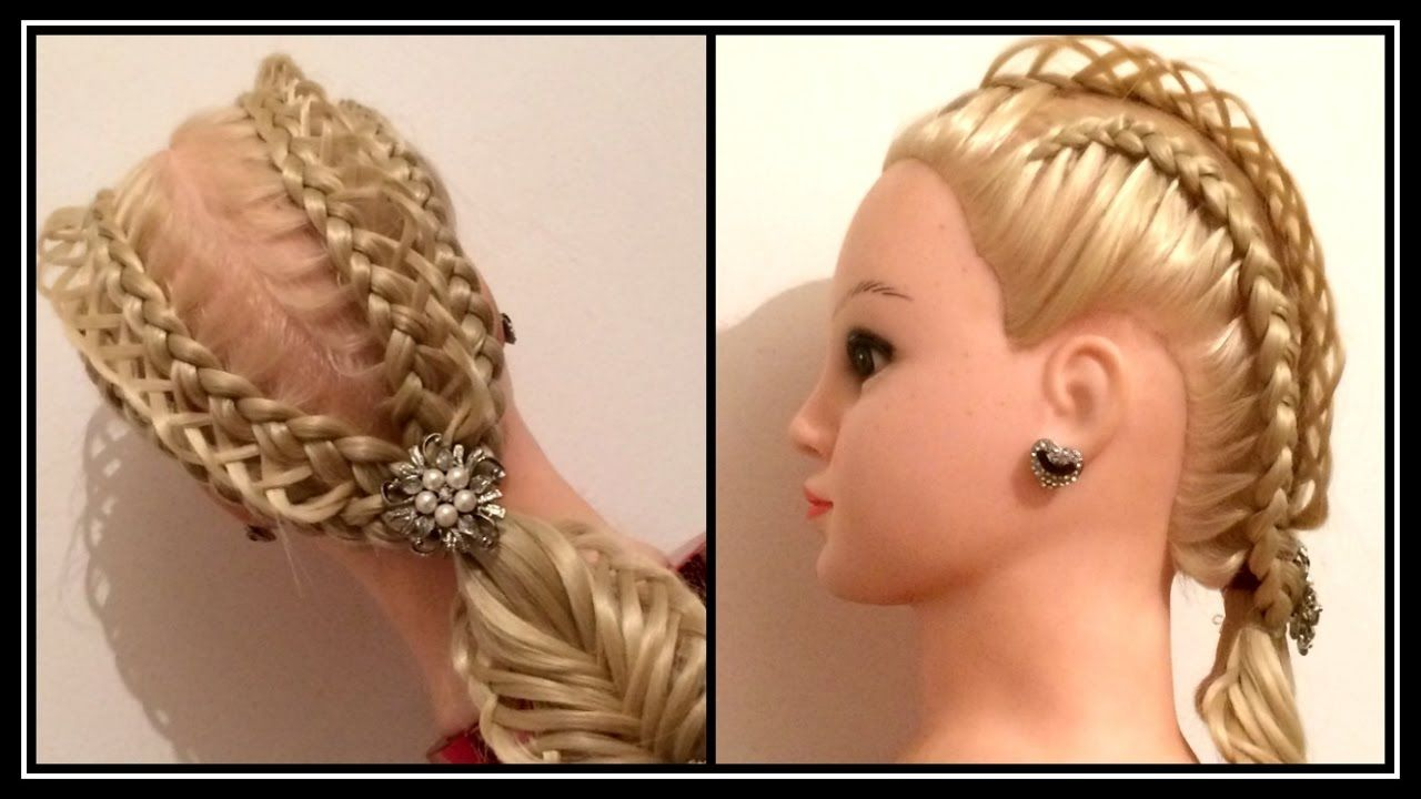 D double dutch criss cross braid hairstyle hair tutorial