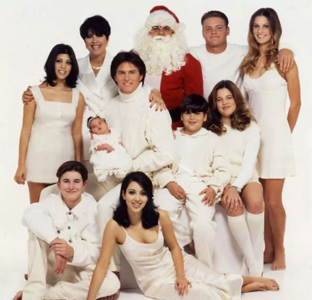 Here Are All The Kardashian Christmas Cards From Years Gone By Kardashian Christmas Kardashian Christmas Photo Kardashian Family Photo