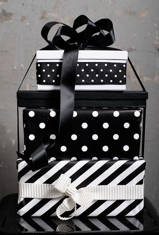 Black White Gift Boxes This Would Make Such A Cool Cake Black