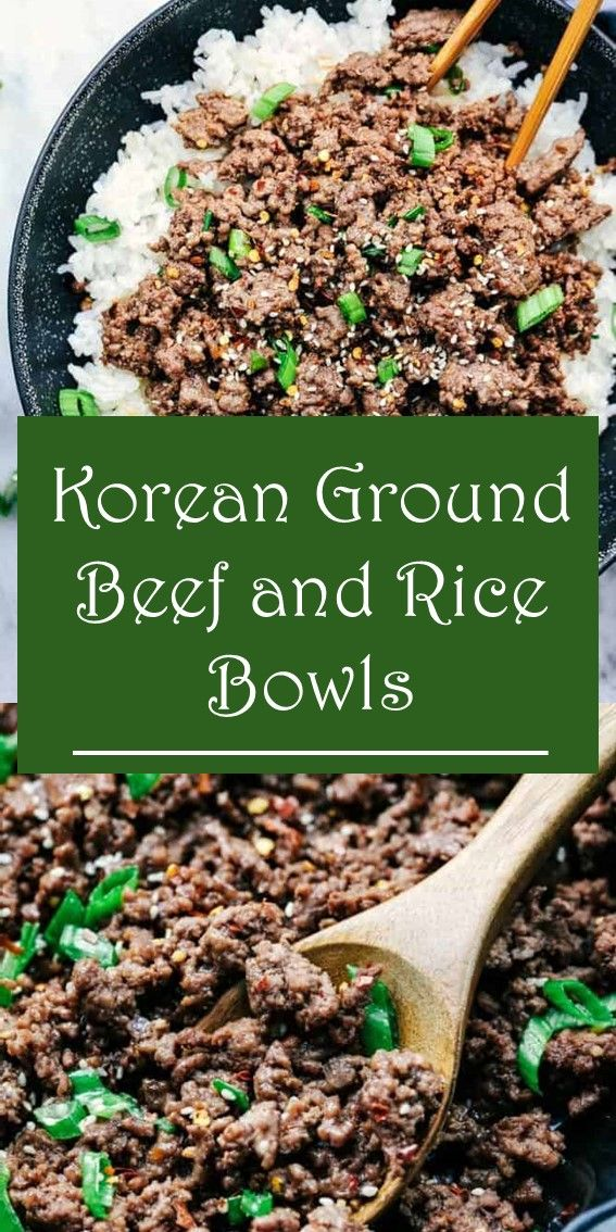 KOREAN GROUND BEEF AND RICE BOWLS #beefandrice