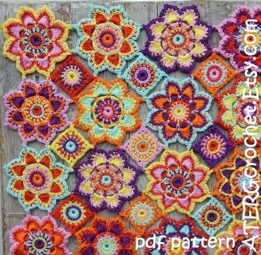 Häkeln Sie Muster Blumen Babydecke von von ATERGcrochet auf Etsy | I ...