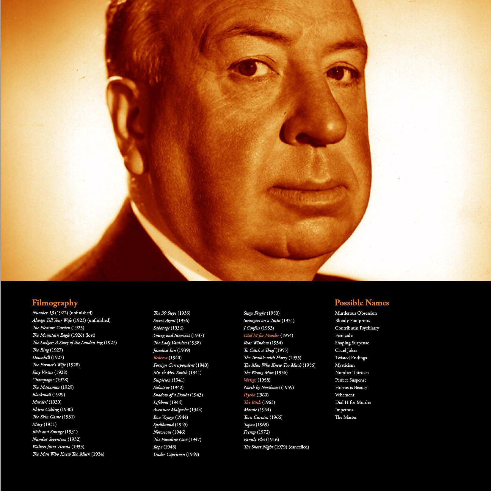 Alfred Hitchcock Biography Page 2 Hitchcock Film Alfred
