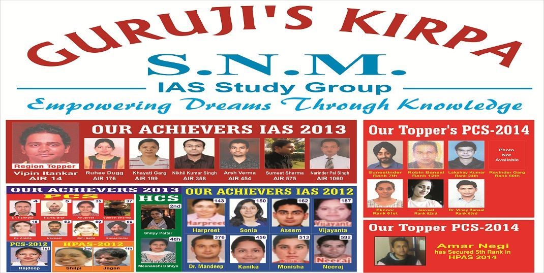 SNM Results Nothing speaks better than success. SNM IAS