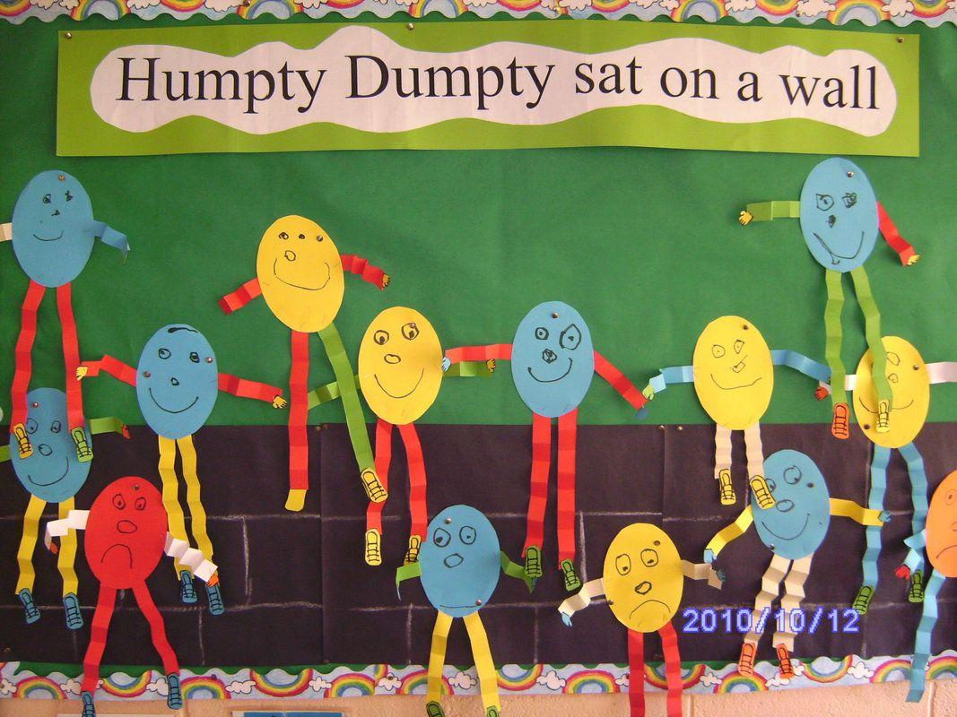 Humpty Dumpty Display Classroom Display Class Display Humpty Nursery Rhyme Rhymes Nursery