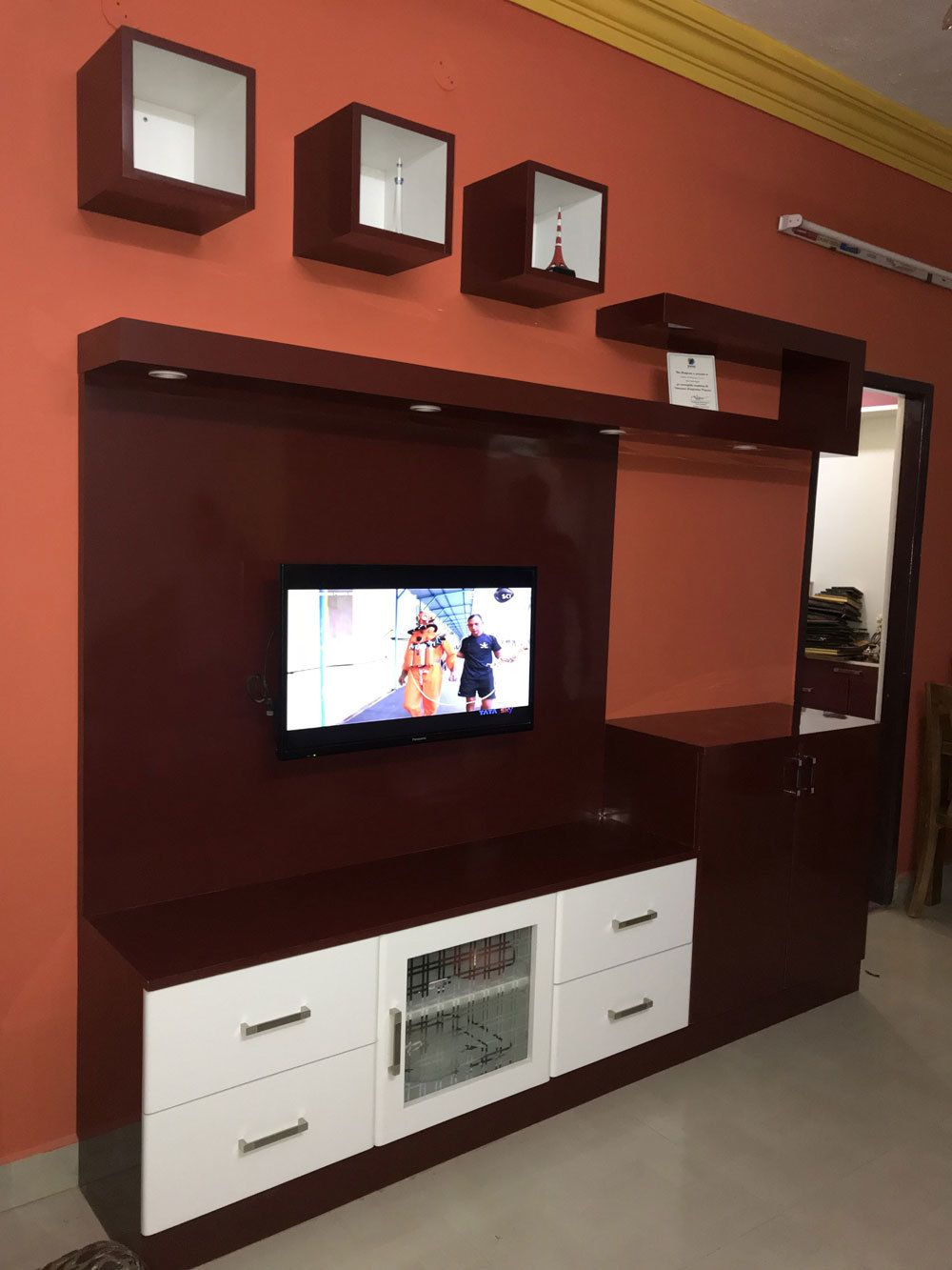 Lcd Panel Design Tv Unit Design Tv: Welcome To Ramya Modular Kitchen & Interiors