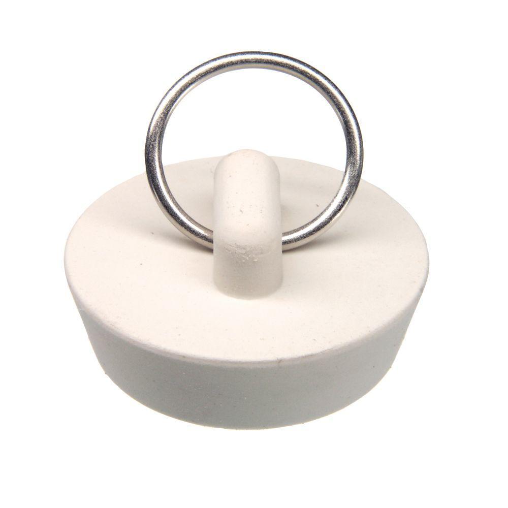 Danco 1 1 4 In Rubber Stopper In White 80225 Bathtub