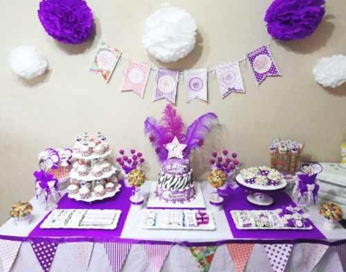 Tortas decoradas infantil 15 anos bodas candy bar lunch for Mesas de bodas decoradas